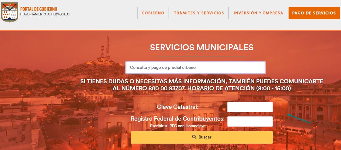 Como pagar predial en Hermosillo por internet