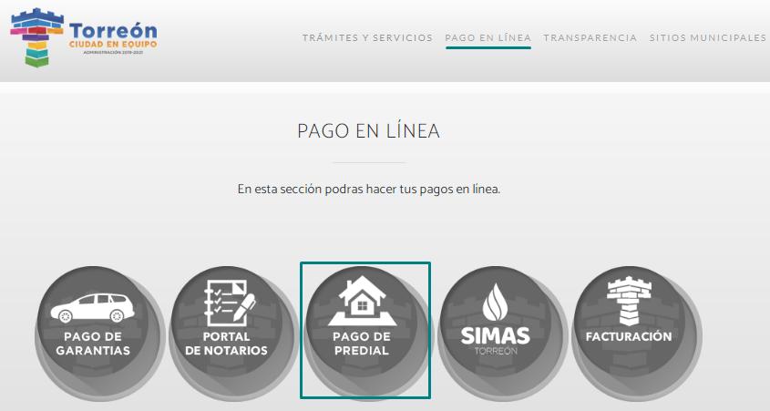 Pagar el predial en Torreón desde el sitio web oficial