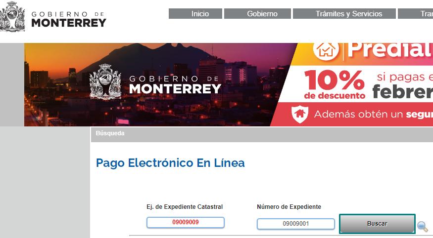 Pagar y consultar predial en Monterrey