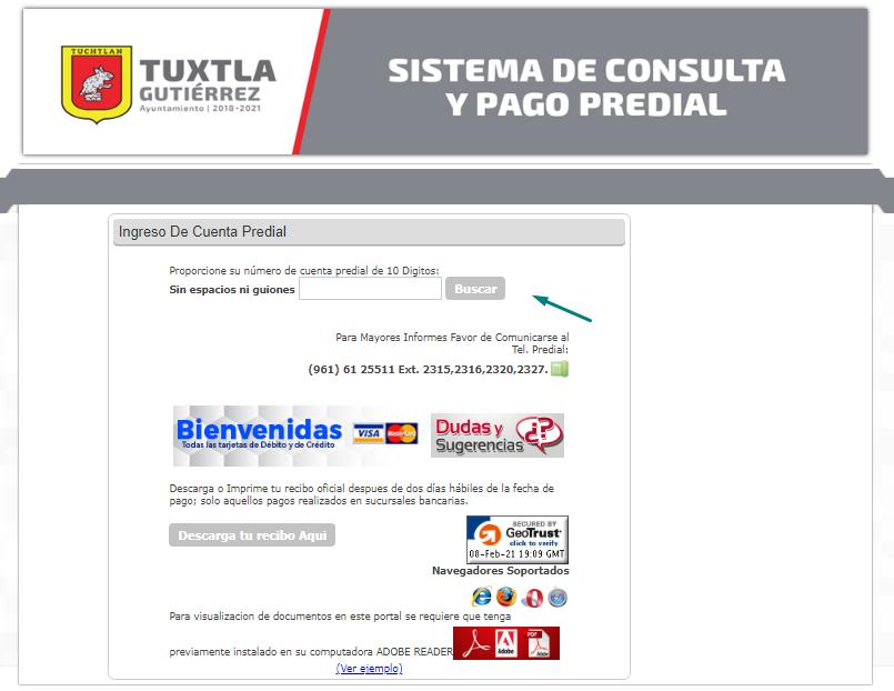Consulta y paga predial Tuxtla